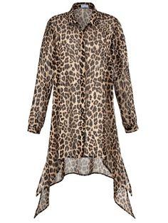 Das trägt LUCY Angel of Style Lange Chiffon-Bluse mit Leo-Print #chiffonbluse #bluse #leoprint #hellome