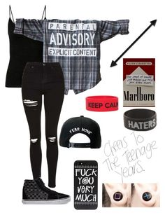 """Untitled #610"" by bands-music ❤ liked on Polyvore featuring Trukfit, Topshop and Vans"