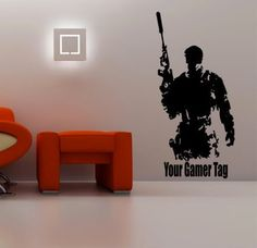 Call of duty Ghost Soldier & Gamer Tag cod Wall art Sticker mw3 playstation xbox360/one ps4 28 different colours 1150mm x 600mm(Black) GVWAGSS1: Amazon.co.uk: Kitchen & Home