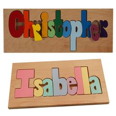 The Personalized Name Puzzle from Hollow Woodworks is a special keepsake that teaches kiddos to spell their names while also developing their manual dexterity. This heirloom puzzle is made from furniture-grade maple, and available in four sizes with