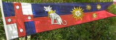 Painting silk banners