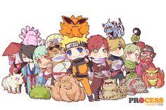 Tags: NARUTO, Uzumaki Naruto, Gaara, Kyuubi (NARUTO), Nii Yugito, Jinchuuriki, Killer Bee, Yagura, Roushi, Han, Utakata (NARUTO), Fuu (NARUTO), Shukaku, Tailed Beasts, Nibi no Bakeneko, Sanbi no Kyodaigame, Yonbi, Rokubi, Hachibi, Pixiv Id 3165967