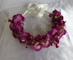 Flower Crown Bridal Hair Wedding Hair Orchid by lovelygifts