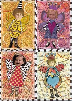 ATCs artist trading cards; available to swap by PaperScraps on flickr: altered…