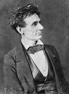 "June 16, 1858. In a speech in Springfield, IL, Senate candidate Abraham Lincoln said the slavery issue had to be resolved, declaring, ""A house divided against itself cannot stand."""
