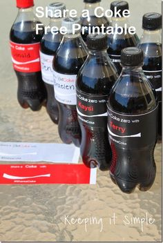 Make Your Own Personalized Share a Coke with this Free Printable #freeprintable #shareitforward #shareacoke #keepingitsimplecrafts