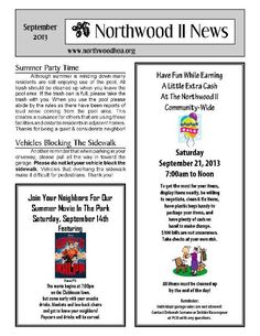 November 2012 – Northwood II (NWII) HOA Community Association ...