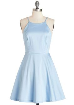 High Line Stroll Dress. What better way to stroll NYCs aerial greenway than in this sky-blue, A-line dress? #blueNaN