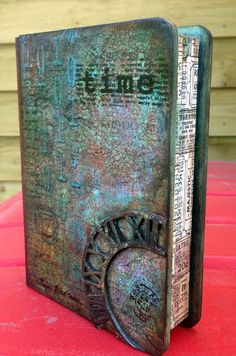 Mixed Media altered book box-but could do the same thing to a book...