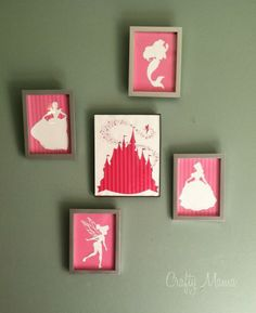 Free Disney Princess Silhouettes!! Scroll down to comments for non-program printables.