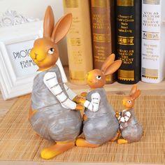 Décorations cadeau ornements de résine cadeaux de mariage creative idées de cadeau d'anniversaire de lapin d'ameublement(China (Mainland))