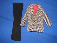 1964 Ken Country Clubbin #1400  Blazer Jacket Coat Black Slacks