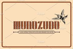 MUNOZUDO by COB on @creativemarket