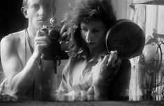 Ed van der Elsken, portraits in a mirror with his wife Ata Kandó (also an acclaimed photographer), Paris, 1953.