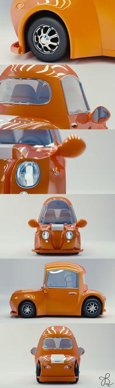 Cutey Car, Beau Dreier Gligoor on ArtStation at https://www.artstation.com/artwork/cutey-car