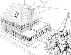 Nieuw ontwerp jaren 30 woning Oegstgeest. Ontwerp 2017 Architect Sander Bongers Uitvoering onbekend Status voorlopig …