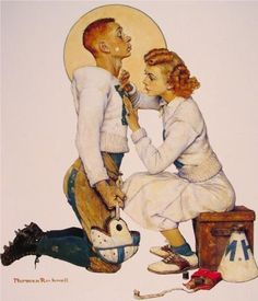 Norman Rockwell (1894 - 1978) | Regionalism | Football Hero - 1955