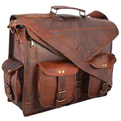 b3682ba80c Handmadecraft ABB 18 Inch Vintage Handmade Leather Messenger Bag for Laptop  Briefcase Satchel Bag - Computers Central Products Directory