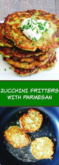 You can serve zucchini fritters as a snack appetizer or side dish. Zucchini is one of the very low-calorie vegetables because it has a high water content. If youre trying to cut down on calories fat or cholesterol zucchini is an excellent choice. Top Recipes, Vegetable Recipes, Diet Recipes, Cooking Recipes, Healthy Recipes, Low Calorie Vegetarian Recipes, Paleo Diet, Health Food Recipes, Vegetarian Dish