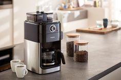 Amazon.de: Philips HD7766/00 Grind&Brew Filter-Kaffeemaschine, doppelter Bohnenbehälter, schwarz/metall