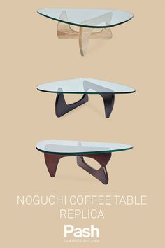 Why should iconic design cost a fortune? The Pash Classics Noguchi Coffee Table replica is built to the highest of standards with a thick glass top, for only Coffee Table Metal Frame, Painted Coffee Tables, Cool Coffee Tables, Modern Coffee Tables, Glass Bedroom Furniture, Furniture Design, Furniture Ideas, Noguchi Coffee Table, Isamu Noguchi