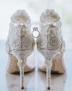 21 Most Wanted Wedding Shoes For Bride & Bridesmaids ❤ wedding shoes lace with high heels dmitry_shumanev #weddingforward #wedding #bride
