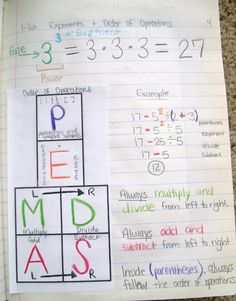 Order of Operations Foldable math-teaching