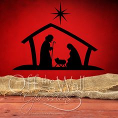 Nativity Scene Christmas vinyl wall decal by OffTheWallExpression, Just in time for the holidays!  Installed this today at church for Christmas Bible School announcement! $22.00