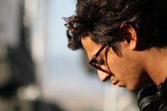 Super Star DJ Gesaffelstein wearing Spektre Sunglasses' Memento Audere Semper in Tortoise w/ Red Mirrored Lens