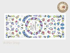 Nail Art Water Slide Decal Sticker Product Details: Style: Sticker Size: 5 * 2 Package Size: 6 * 2 Quantity: 1 pc How to use Blue Rose Bouquet, Purple Roses, Nail Art Stickers, Nail Decals, Water Slides, Paper Background, Craft Supplies, Tapestry, Nails