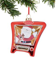 Look at this #zulilyfind! Department 56 Rudolph the Red-Nosed Reindeer & Santa TV Ornament #zulilyfinds