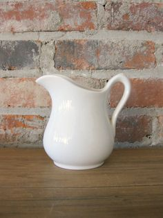 Hey, I found this really awesome Etsy listing at https://www.etsy.com/listing/181061311/ironstone-pitcher-vintage-white