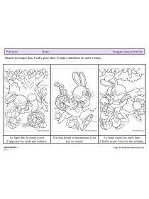 Librairie-Interactive - Images séquentielles du lapin de Pâques