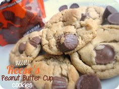Mini Reese's Peanut Butter Cup Cookies- these cookies are heavenly! I love peanut butter and chocolate! SixSistersStuff.com #cookies