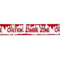 """#Cinta #Balizamiento """"Zona Zombie"""" Precaución.  En #Mercadisfraces podrás comprar tus #disraces #originales para tus fiestas de #halloween"""