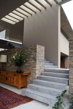 Concrete stone timber combo