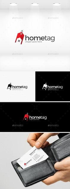 Home Tag  Logo Design Template Vector #logotype Download it here:  http://graphicriver.net/item/home-tag-logo/11889865?s_rank=933?ref=nexion