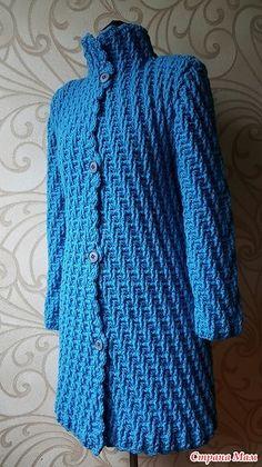 Модное пальто. Схема узора (Вязание крючком) | Журнал Вдохновение Рукодельницы