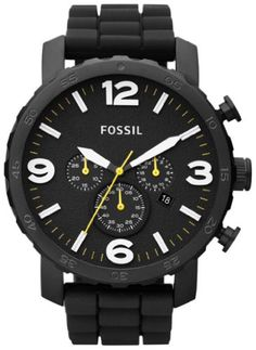 Fossil Men's JR1425 Nate Chronograph Black Silicone Watch Fossil,http://www.amazon.com/dp/B009LSKP6G/ref=cm_sw_r_pi_dp_5iz9sb17MC9P5387