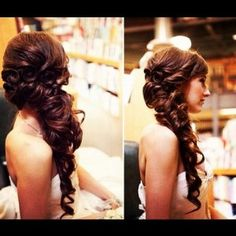 Bridemaids hair do's should look a little something like this just an idea for junior bridemaids if you wanted it down :)
