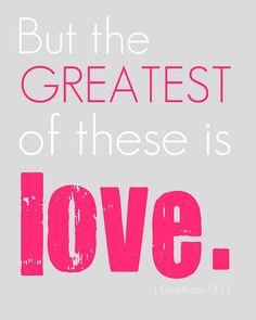 Valentine printable - LOVE