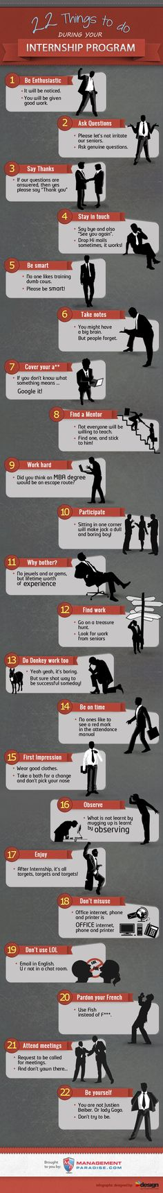 22 things to do during your internship program [infographic]