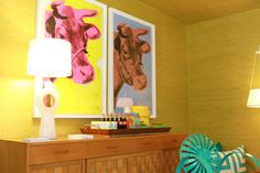 How fun are these Warhol pop art cows in Scott Sanders room? @ Kips Bay Showhouse Photo by Edgar Pineda