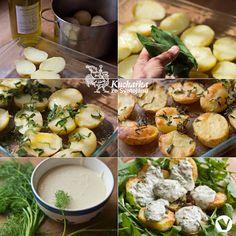 Kuchařka ze Svatojánu: PEČENÉ BRAMBORY S KOPROVÝM DIPEM