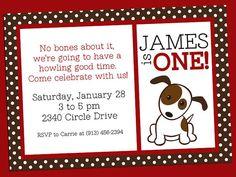 Dog Birthday Party Invitations Puppy Dog Party Invites 1st