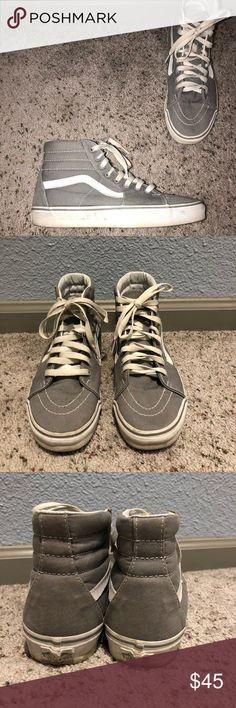 VANS HI TOPS Gently used Women's 9, men's 7.5 Gray Vans High tops Vans Shoes Sneakers