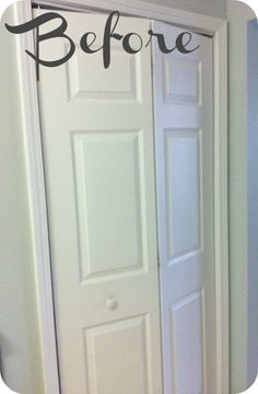 Here's an idea!!! I HATE my bi fold doors but am too cheap to buy a new door...to-do, to-do :)
