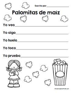 Poemas/poesía para niños en K, 1, 2 y 3 en español.  35+ pages of Poem unit in Spanish.