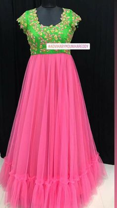 Kids Party Wear Dresses, Gown Party Wear, Party Wear Indian Dresses, Indian Gowns Dresses, Long Frocks For Kids, Frocks For Girls, Long Dress Design, Stylish Dress Designs, Indian Designer Outfits