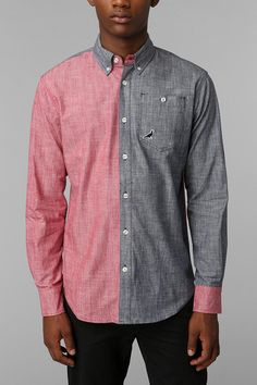 Staple Stern Colorblock Button-Down Shirt #urbanoutfitters